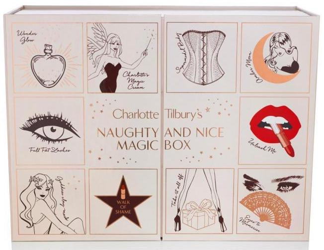 Here are the contents of the Charlotte Tilbury Naughty and Nice Magic Box Advent Calendar for Holiday 2017, and comparisons with 2016 and 2015 editions.