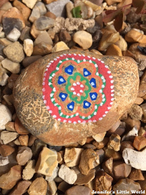 Posca pen decorated stone