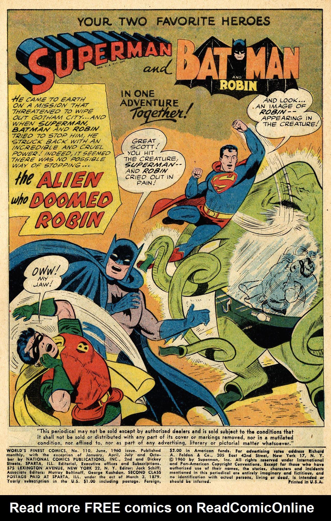 Read online World's Finest Comics comic -  Issue #110 - 3