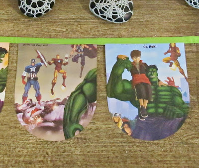image bunting the incredible hulk avengers domum vindemia for children superhero etsy