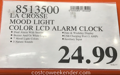 Deal for the La Crosse Mood Light Alarm Clock (model C85135) at Costco