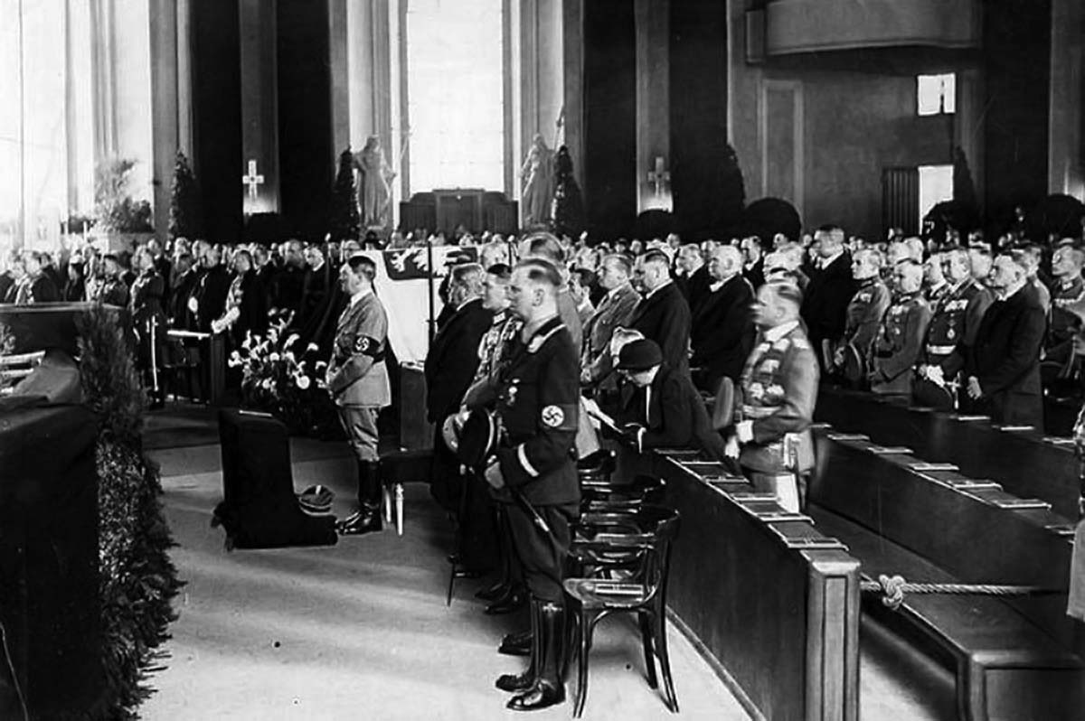 This was the only time that Fuhrer attended a holy mass as a leader of the Third Reich and probably one of the last times when he was in a church.
