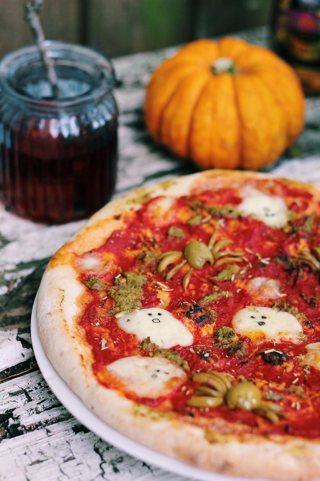 Spooky Halloween Pizza