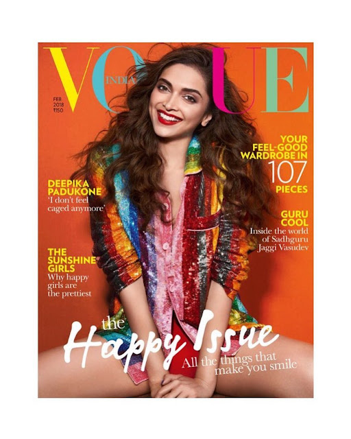 Deepika Padukone at Vogue Magazine cover 2018
