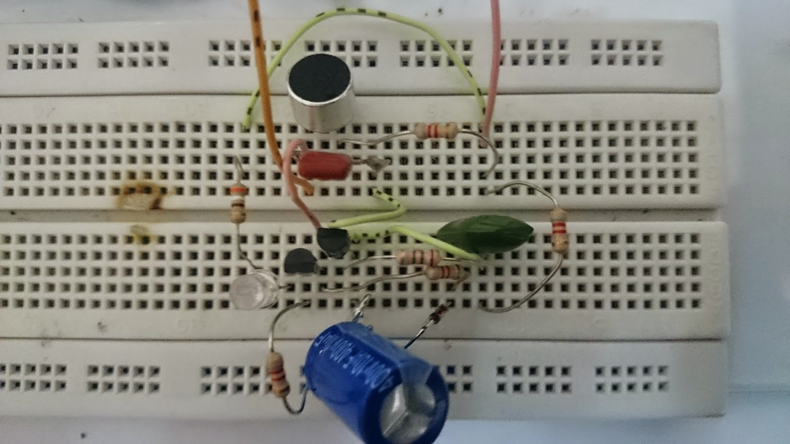 Sound detector with LED