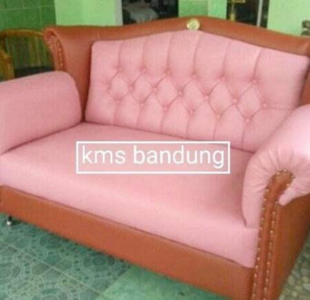 sofa cantik cover pink