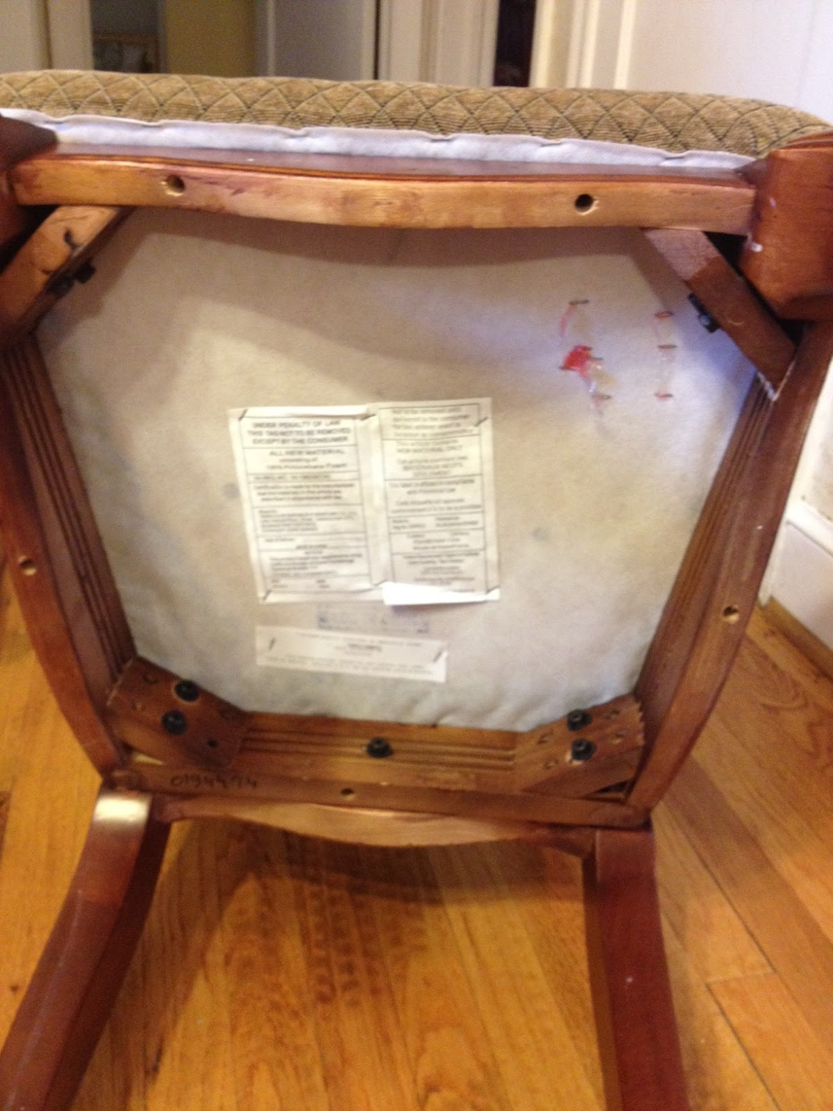 Window Treatments By Melissa DIY Reupholster Dining Room Chairs