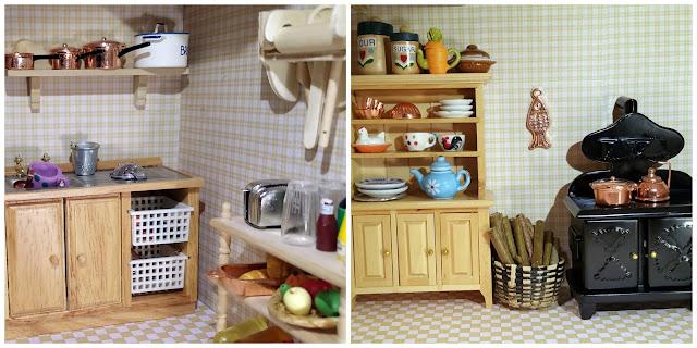 cuisine, kitchen, crockery, vaisselle, miniature furnitures, meubles miniature