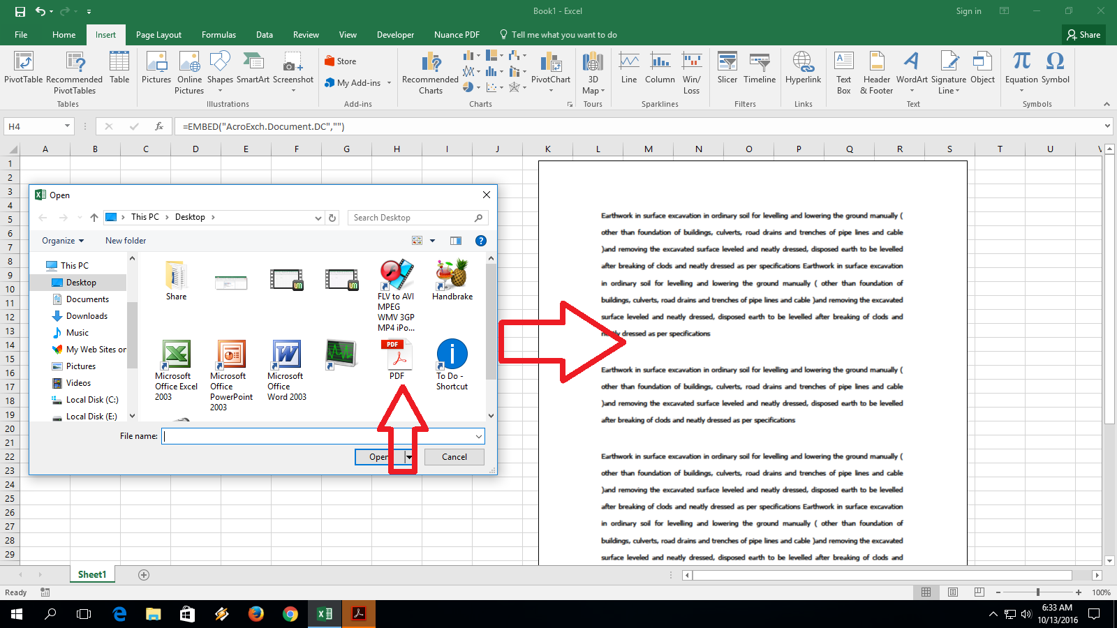 Learn New Things How To Insert Add File Into Ms Excel