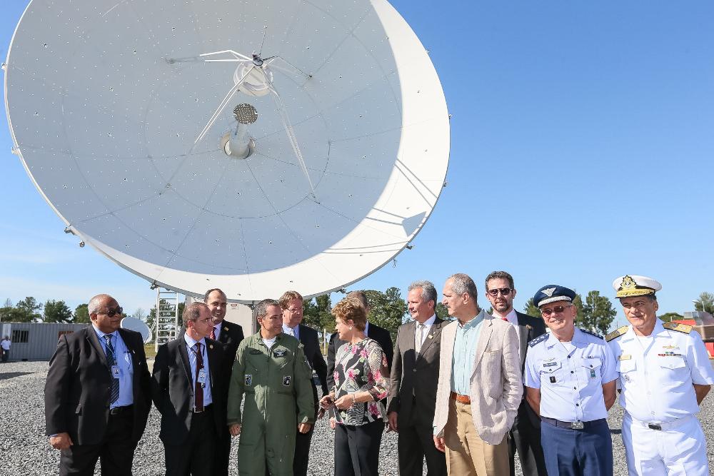 Visita da Dilma a uma das antenas da Telbras