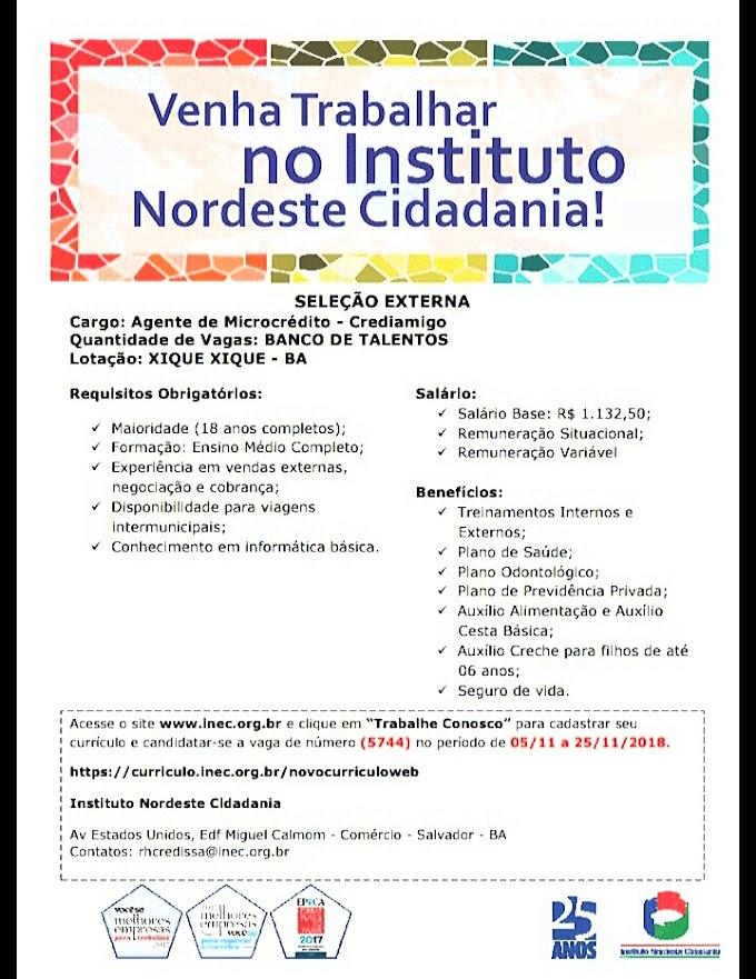Oportunidade de emprego para os jovens de Barra, Xique-xique e região!!!