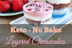 Keto No-Bake Low Carb Layered Cheesecakes