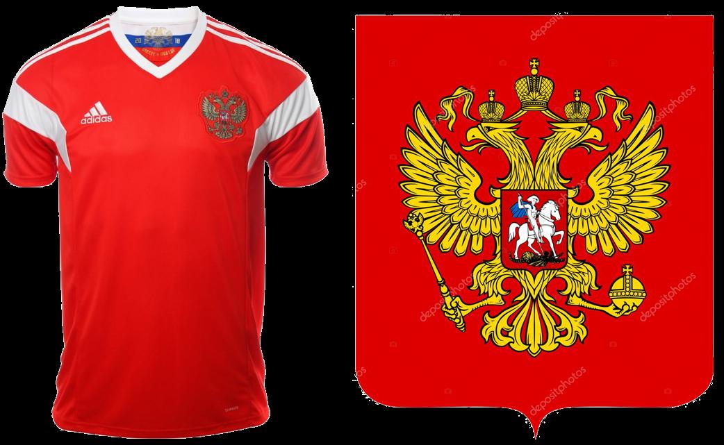 64703f04592f2 Desde la temporada 2010 Rusia lleva en su camiseta el escudo nacional en  vez del de la Unión Rusa de Fútbol (Российский Футбольный Союз).