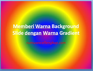 hasil pemberian warna background dengan jenis gradient