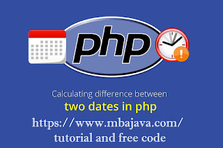 subtract 2 dates in PHP and show the days results tutorial and free code