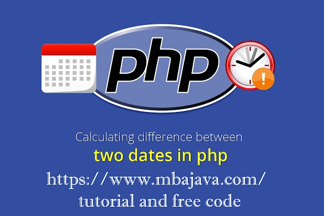 ➩ subtract 2 dates in PHP and show the days results tutorial and free code