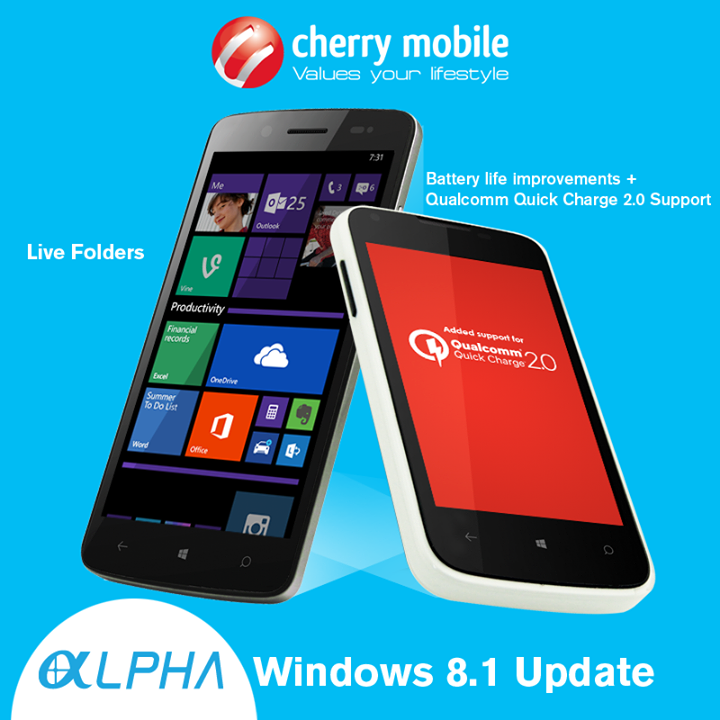 Cherry Mobile Alpha Luxe and Alpha Style Windows 8.1 Software Update