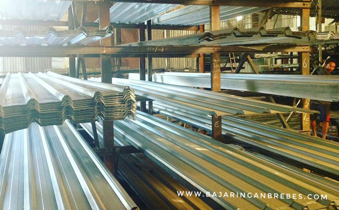 harga kanopi baja ringan per meter persegi atap spandek 2019 brebes