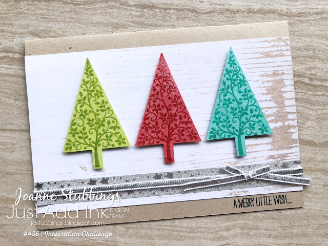 Jo's Stamping Spot - Just Add Ink Challenge #435 using Festival of Trees Stamp Set by Stampin' Up!