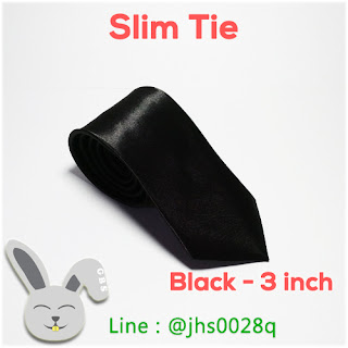 slim tie 3 inch black gelvy dasi kerja formal