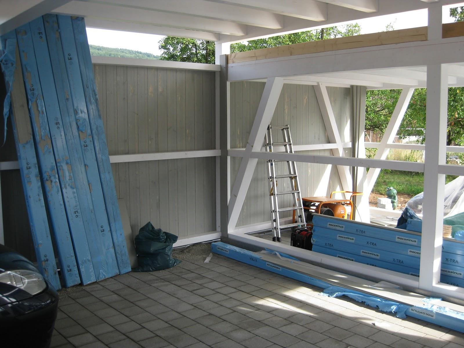 wir bauen ein okal haus carport dachabdichtung schalung. Black Bedroom Furniture Sets. Home Design Ideas