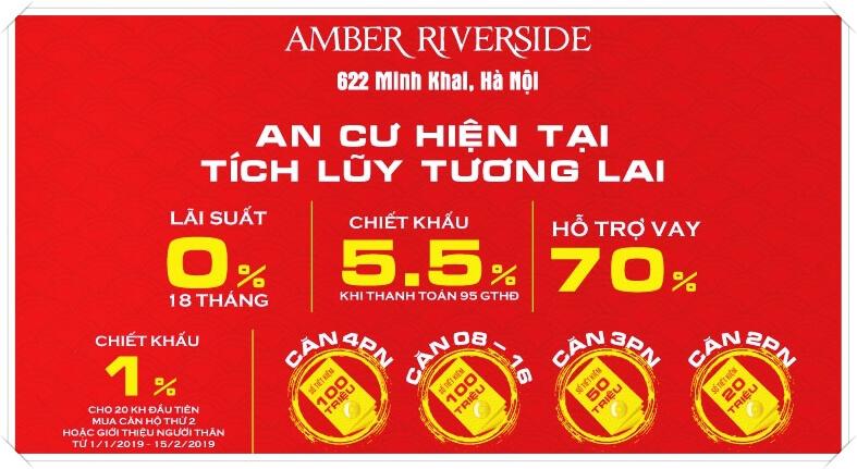 Ưu đãi hấp dẫn khi mua căn hộ Amber Riverside