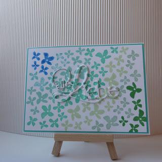 Karte, stempeln, Stanze, Alles Liebe Blumen für dich, Loewchenzimmer, Löwchenzimmer,