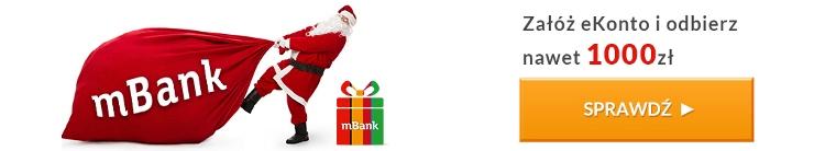 Nawet 1010 zł premii w promocji mBanku