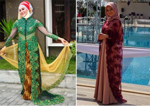 model baju kebaya muslim orang gemuk