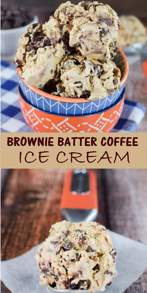 BROWNIE BATTER COFFEE ICE CREAM #Icecreamrecipes