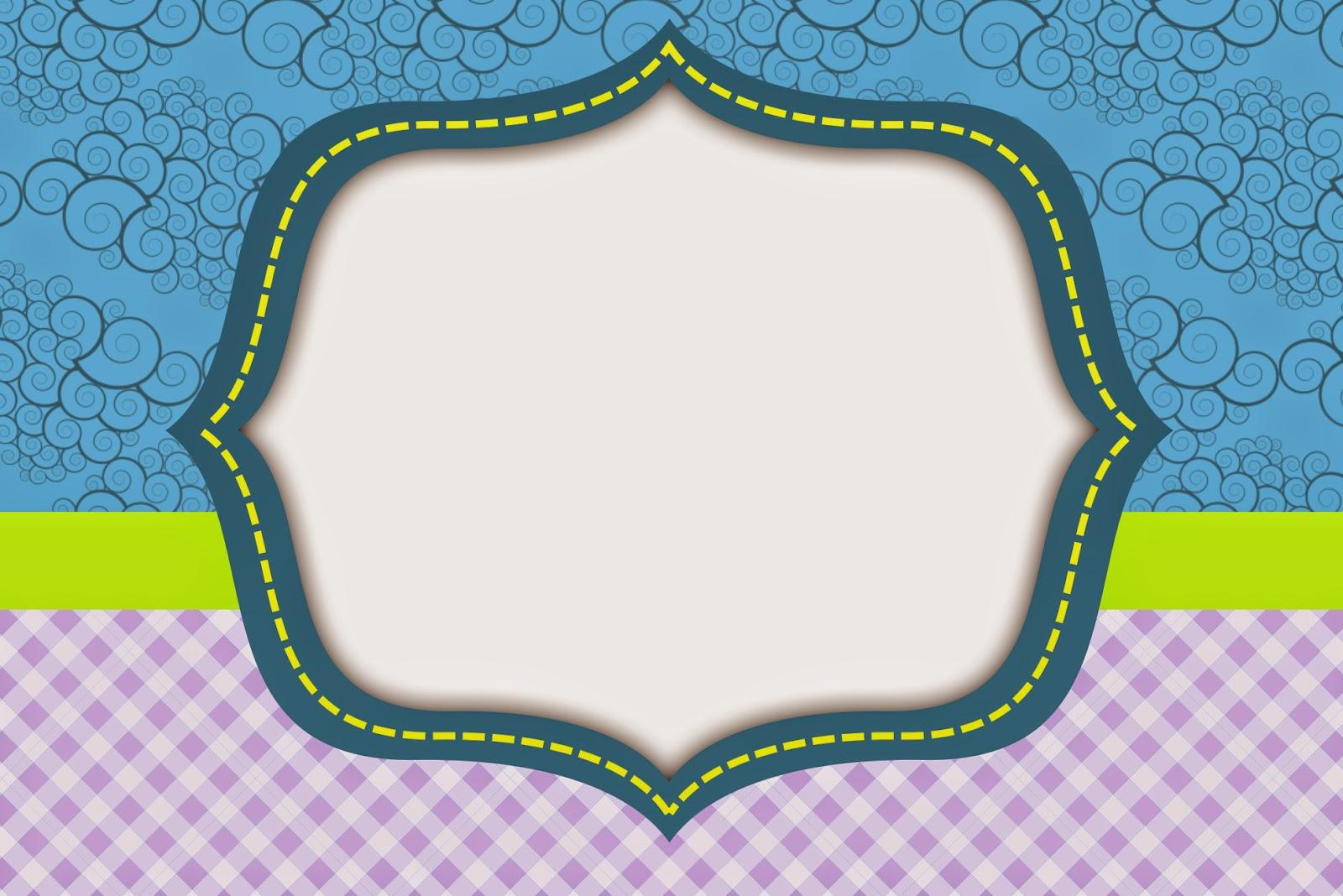 Curvas y Cuadros: Invitaciones para Imprimir Gratis. | Ideas y ...