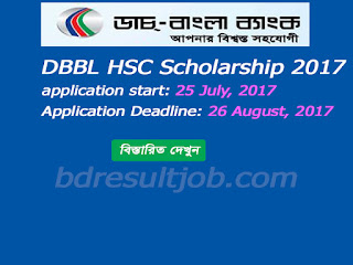 Dutch Bangla Bank HSC Scholarship 2017 Circular