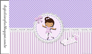 Ballerina in Purple: Free Printable Candy Bar Labels.