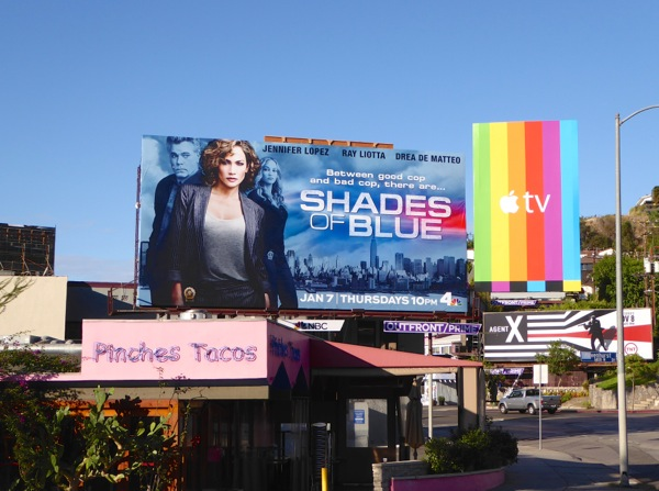 Shades of Blue series launch billboard