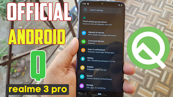 how to install android q on realme 3 pro
