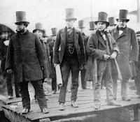 Men Wearing Top Hats, 1857