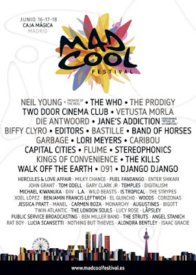 Mad Cool, Festival, Madrid, 2016, Concierto, Directo, Cartel