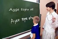 Bayan Öğretmen Öğrenci Kara tahta, İlkokul Sınıfı