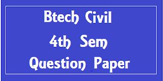 Btech Civil 4th Sem Previous Question Papers Mdu