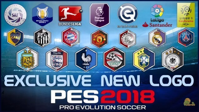 Exclusive New Logo National Teams, Clubs & Leagues PES 2018