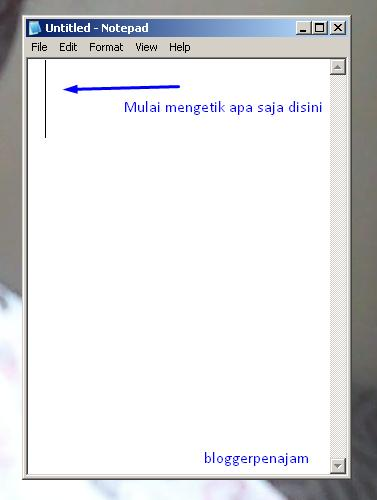 Tips Windows Bagaimana Membuka Program Notepad Secara Cepat Blogger Penajam