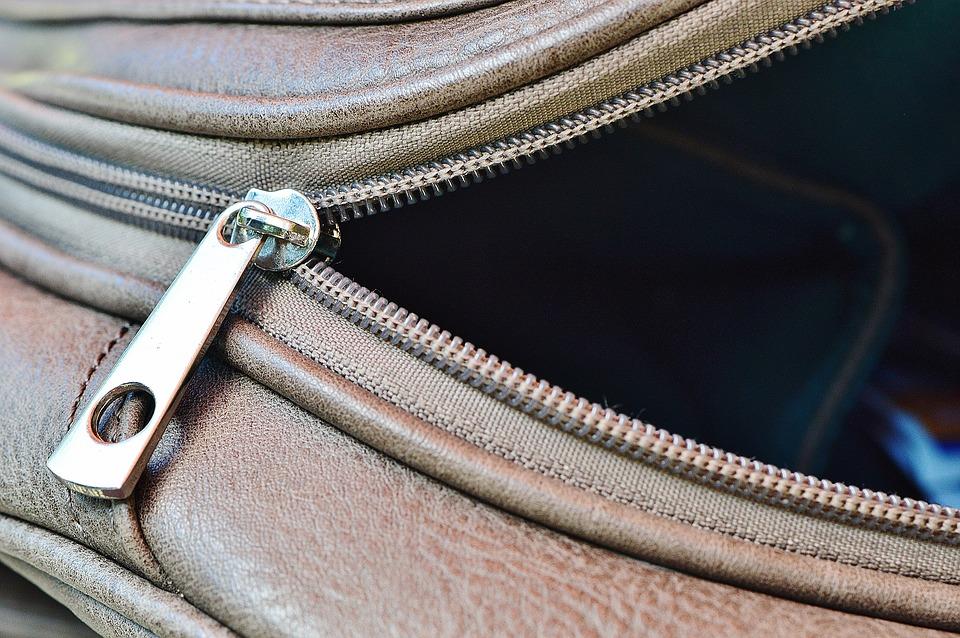 borsa con chiusura a zip cerniera