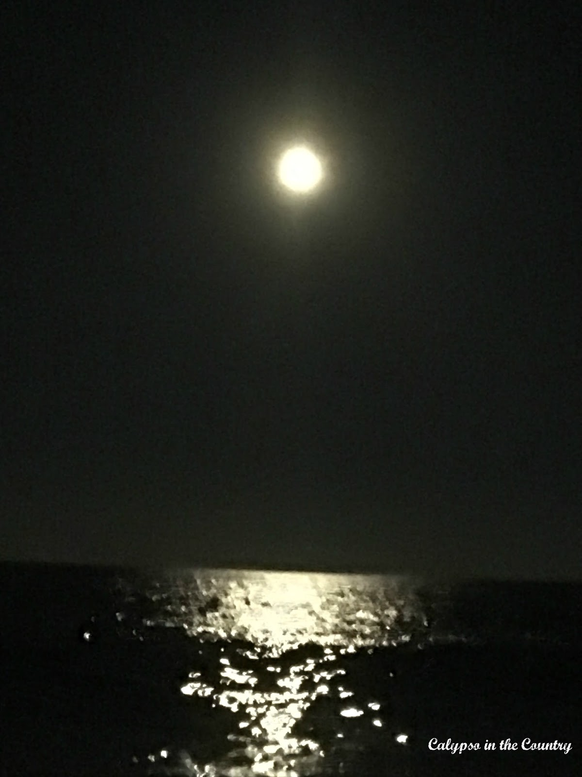 Moon over the Ocean - Summer 2016