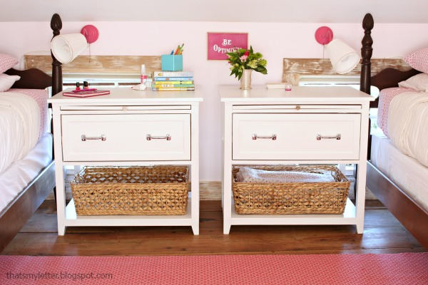 girls diy nightstands with drawer and pull out ledge