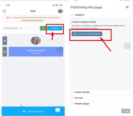 Cara membuat banyak link di bio profil instagram