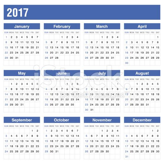 printable annual calendar 2017