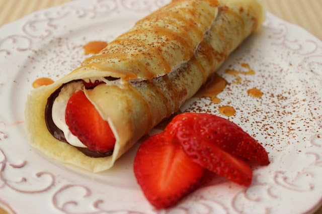 Nutella and Strawberry Crepes | Cooking on the Front Burner #crepes #nutella