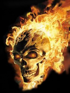 cool wallpaper fire skull - photo #1