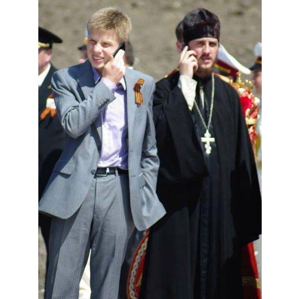Гончаренко посещал пророссийские акции и цеплял себе георгиевскую ленту.
