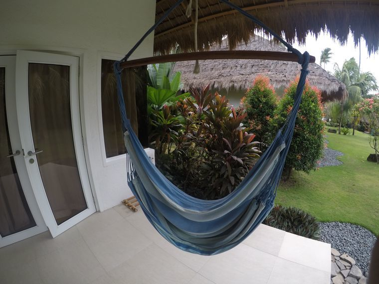 Hammock outside the room at Atmosphere Resorts & Spa